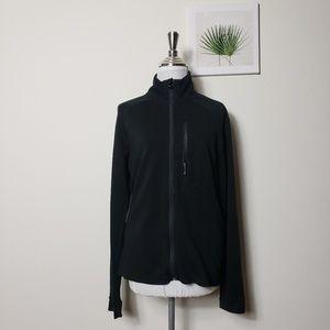 Black Smartwool full zip Merino wool sweater